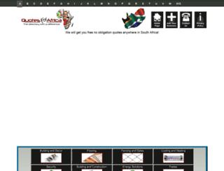 quotesforafrica.co.za screenshot
