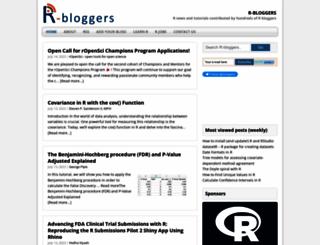 r-bloggers.com screenshot