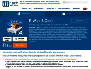 r-wipe.com screenshot