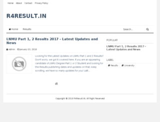 r4result.in screenshot