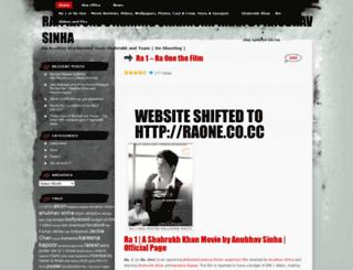 ra1themovie.wordpress.com screenshot