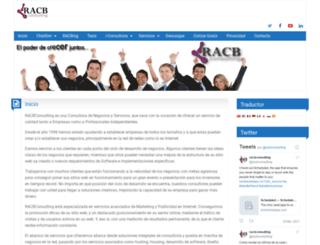 racbconsulting.com screenshot