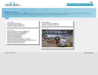 raceowl.com screenshot