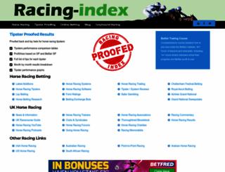 racing-index.com screenshot