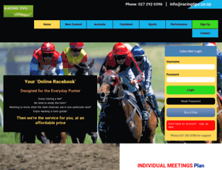 racingtips.co.nz screenshot