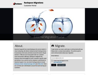 rackspace.selfmigration.com screenshot