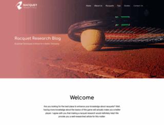 racquetresearch.com screenshot