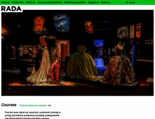 rada.ac.uk screenshot