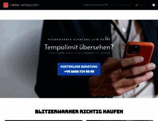 radar-shop.com screenshot