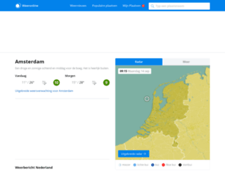 radar.weeronline.nl screenshot