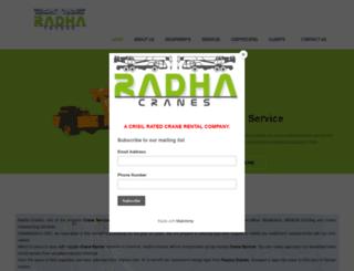 radhacranes.com screenshot