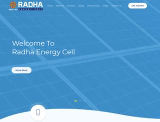 radhasolar.com screenshot