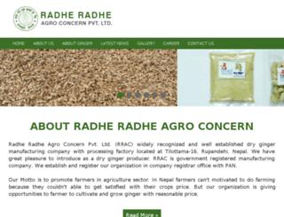 radheradheagro.com.np screenshot