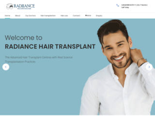 radiancehairtransplant.com screenshot