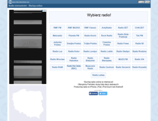 radio-internetowe.com screenshot