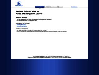 Access radio-navicode.honda.com. Honda Radio / Navigation Code ...