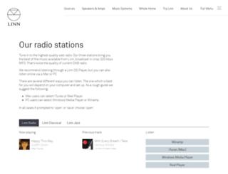 radio.linnrecords.com screenshot
