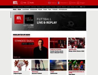 radio.rtl.lu screenshot
