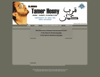 radio.tamerlovers.com screenshot