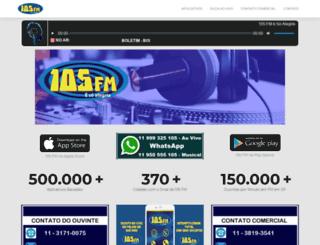 radio105fm.com.br screenshot