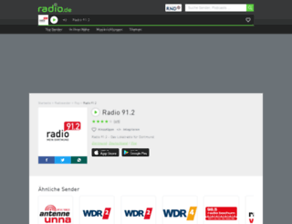 radio912.radio.de screenshot