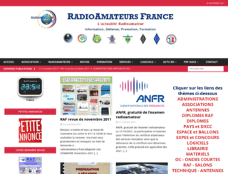 radioamateurs-france.fr screenshot