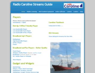 radiocaroline.audio screenshot