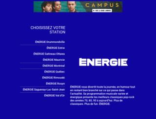 radioenergie.ca screenshot