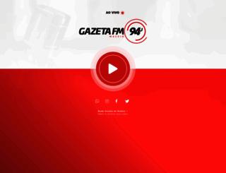 radiogazeta.fm.br screenshot