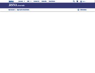 radiographics.rsna.org screenshot