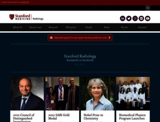 radiology.stanford.edu screenshot