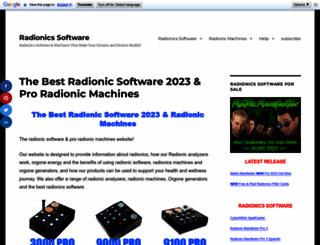 radionicsoftware.info screenshot
