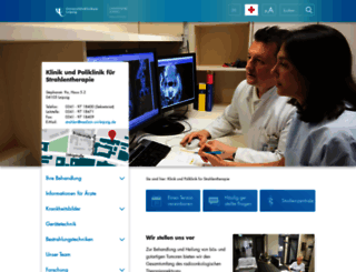 radioonkologie.uniklinikum-leipzig.de screenshot