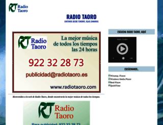 radiotaoro.es screenshot