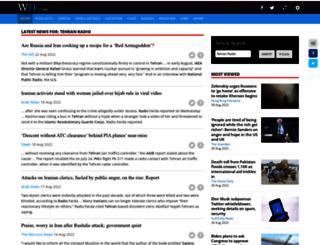 radiotehran.com screenshot