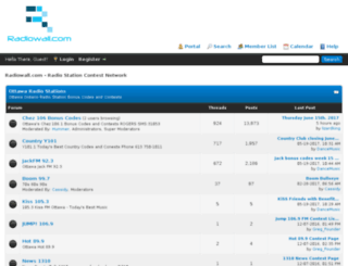 radiowall.com screenshot