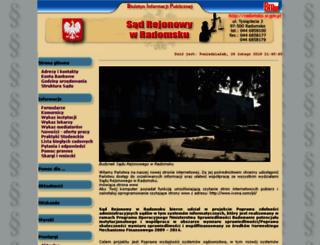 radomsko.sr.gov.pl screenshot