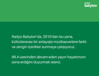 radyobabylon.com screenshot
