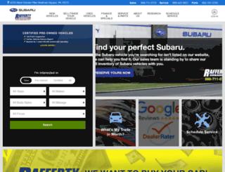 raffertysubaru.com screenshot