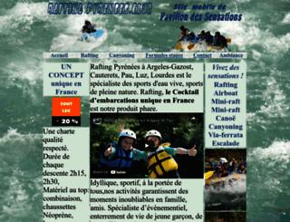 rafting-canyoning-pyrenees.com screenshot