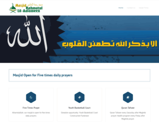 rahmatmasjid.com screenshot