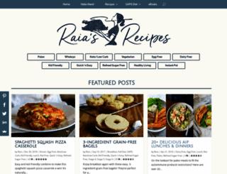 raiasrecipes.com screenshot