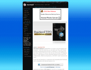 raidenftpd.com screenshot