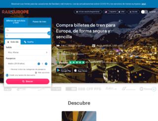 raileurope.com.ar screenshot