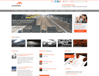 rails.arcelormittal.com screenshot
