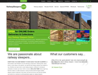 railwaysleepers.com screenshot