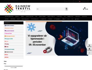 rainbowtekstil.no screenshot