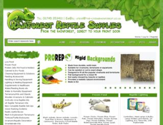 rainforestsupplies.co.uk screenshot