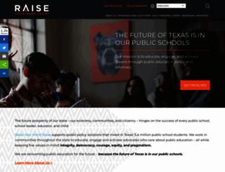 raiseyourhandtexas.org screenshot