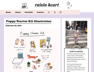raisinheart.com screenshot